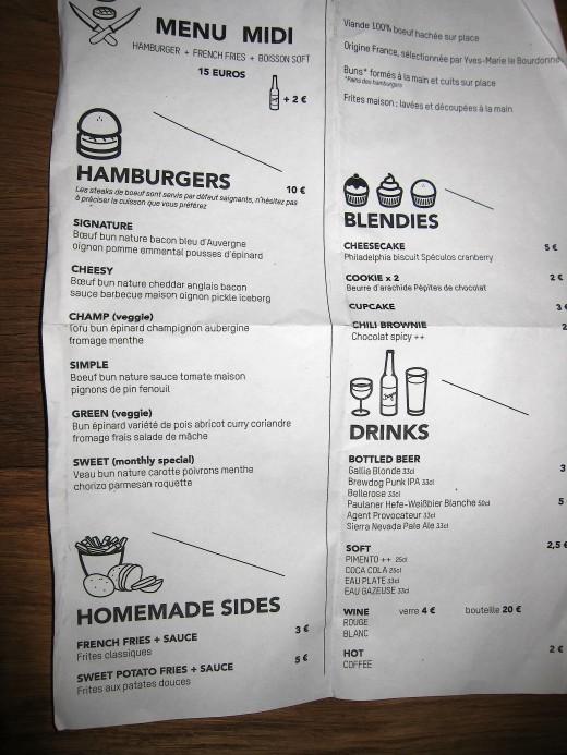 Blend-menu