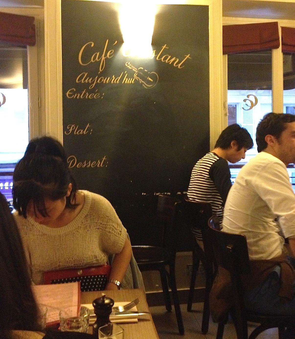 Restaurant Chef Constant Paris