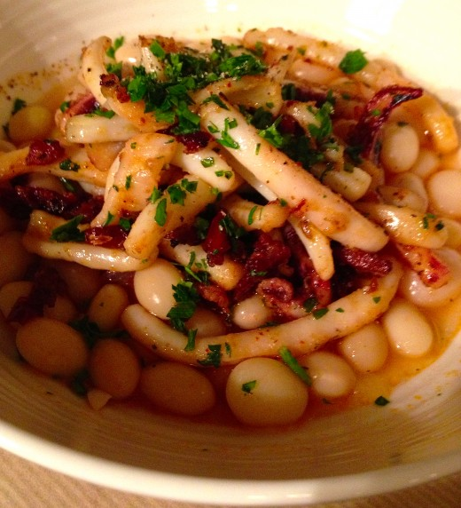 Cafe-Trama-Squid-with-white-beans