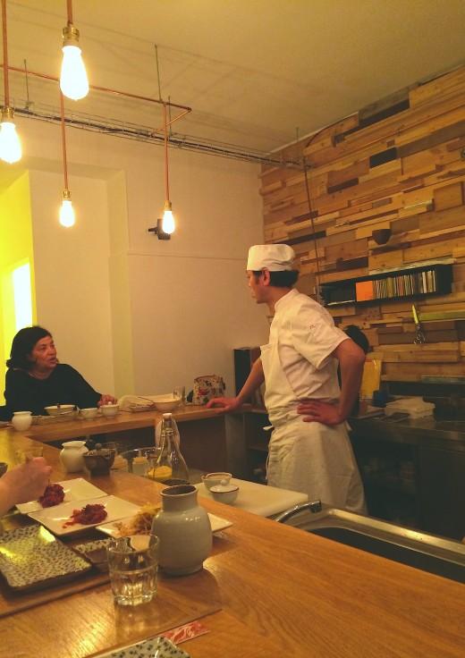 Mandoo chef standing