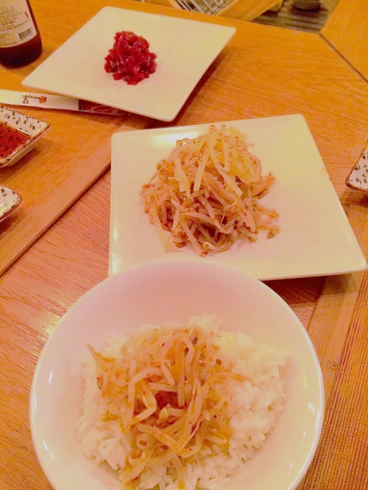 Mandoo three plates - rice etc.