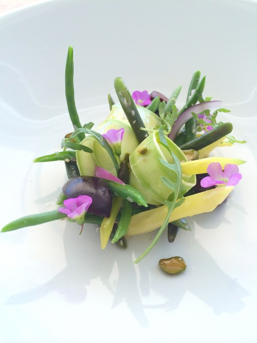 Mirazur - Green bean salad
