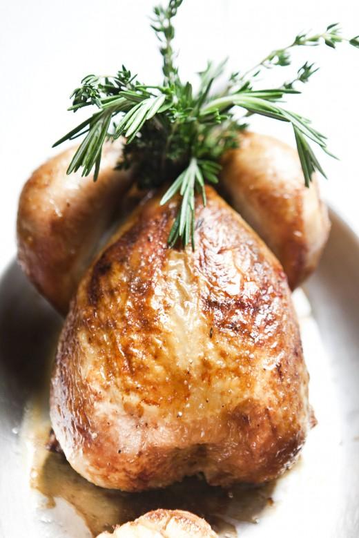 Roast chicken at Benoit @pierremonetta