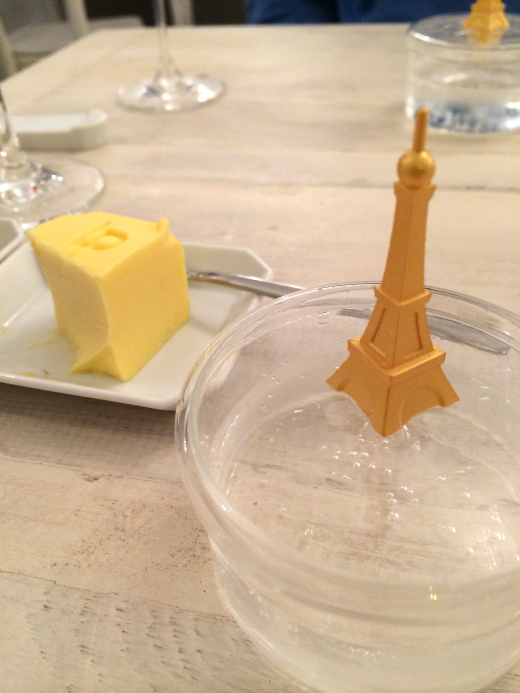 PARIS Eiffel Tower and butter