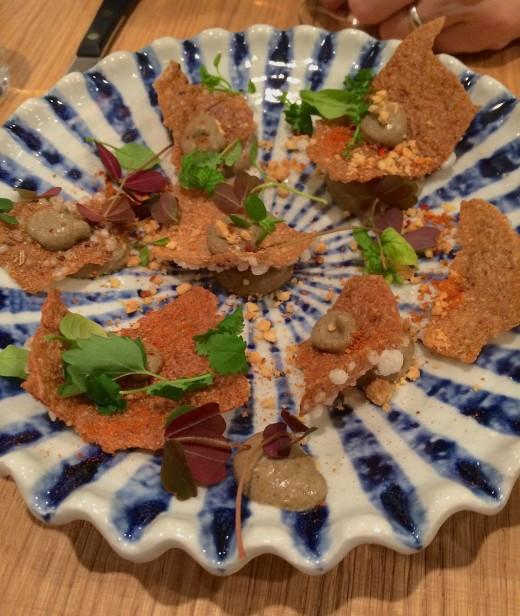 Clover quinoa wafers and eggplant 2