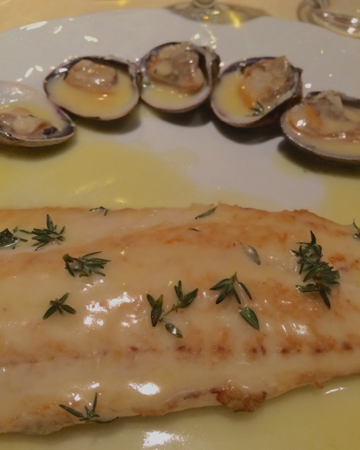 Le Duc - sole w:clams and thyme
