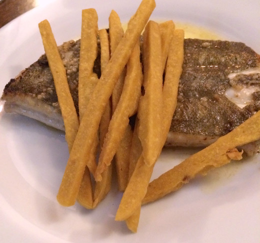 Amaranthe - Sole with panisse fries