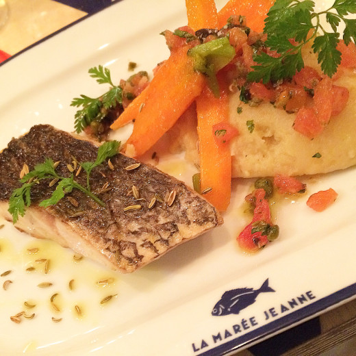 Grilled croaker fish with fennel seeds at La Maree Jeanne Paris