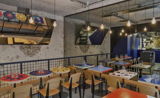 Dining room at La Maree Jeanne restaurant in Paris