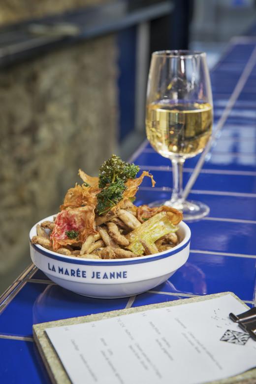 Fried whitebait at La Maree Jeanne