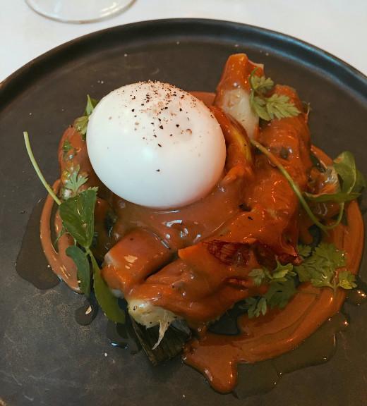 Saint Pourcain egg and leeks