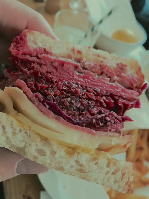 Frenchie to Go - Reuben sandwich