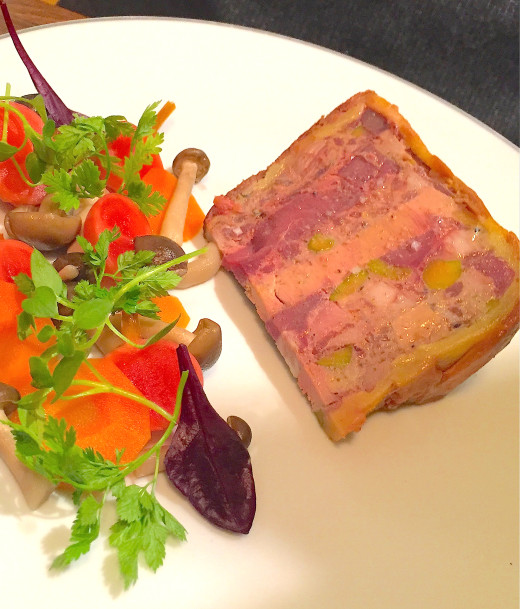 Mensae terrine with salad pretty