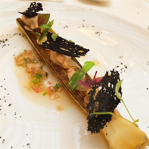 Celeste - grilled leek oyster mignonette