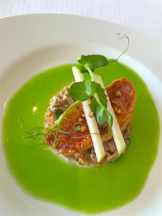 Le Crouzil - Rouget, green apple, peashoot, spelt