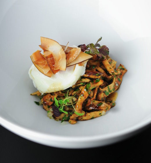 Bistrot Paradis-Wild mushrooms with toasted coconut Copyright A.Schachmes