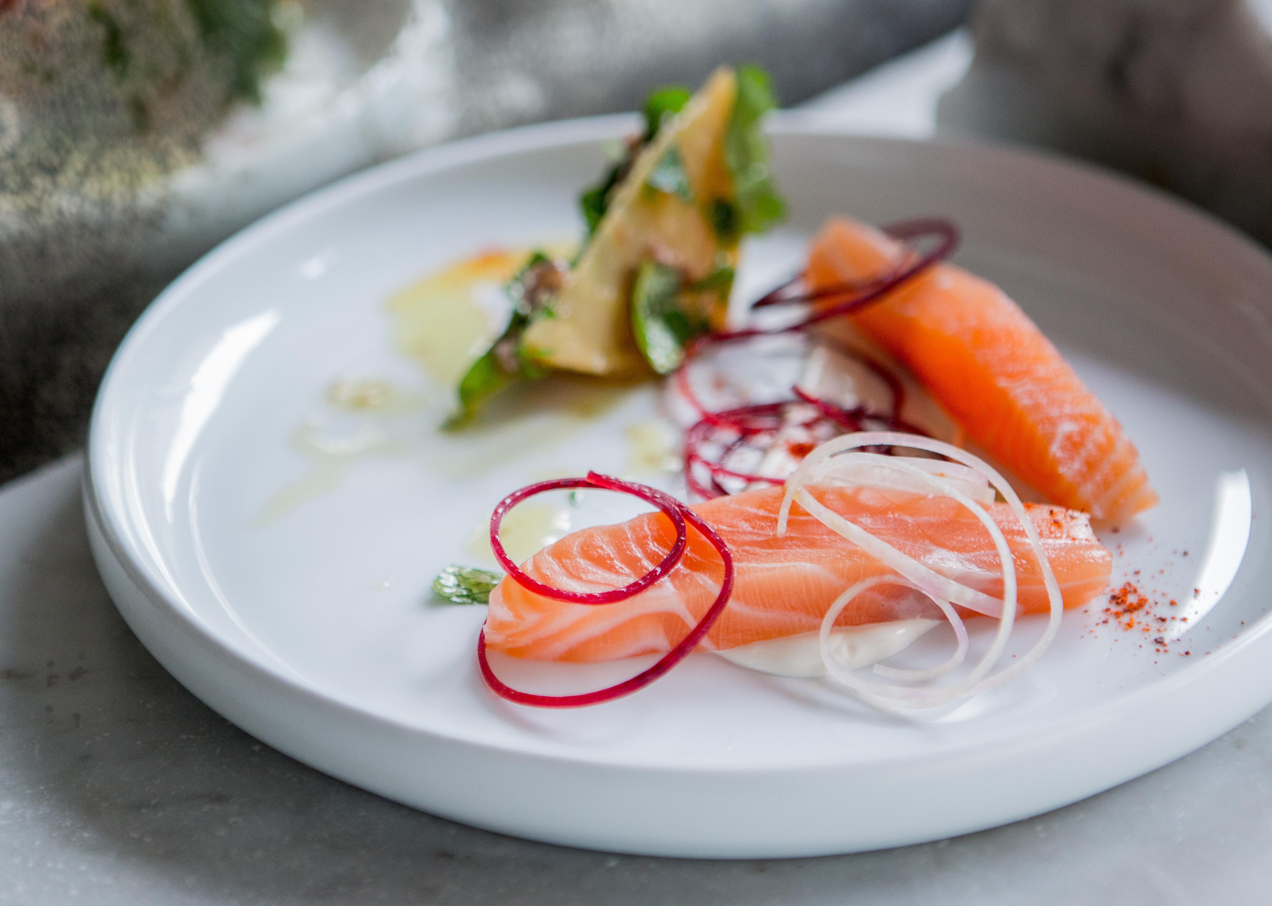 Papillon - Paris - Marinated Salmon @ Pierre Monetta
