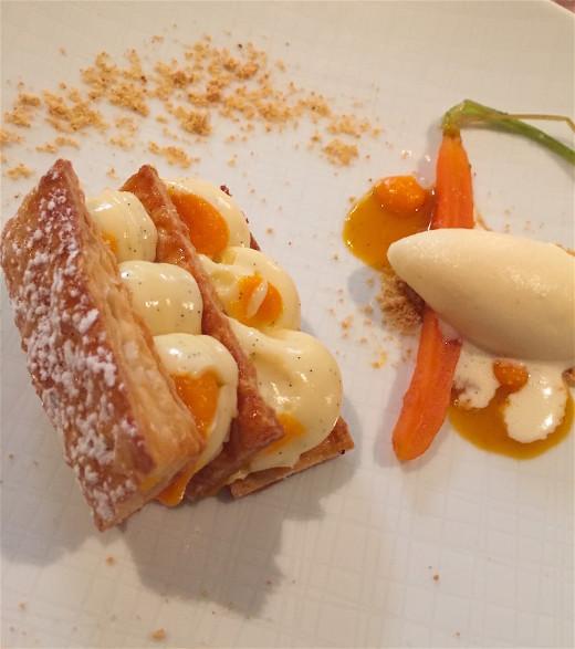 Domaine de Fonteniille carrot millefeuille