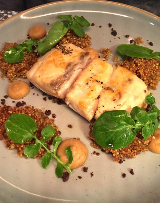 Champeaux - croaker with quinoa @Alexander Lobrano