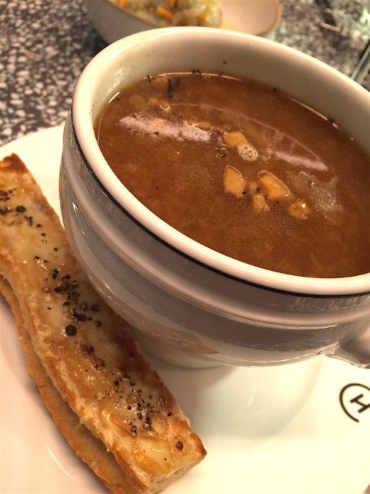 Champeaux - onion soup @Alexander Lobrano