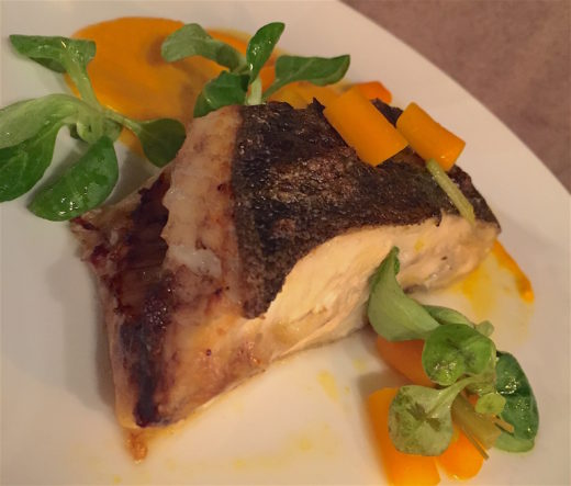 The Fish Club - Turbot with carrots @ Alexander Lobrano