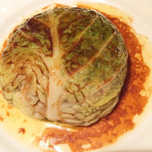 Les Arlots - stuffed cabbage @Alexander Lobrano