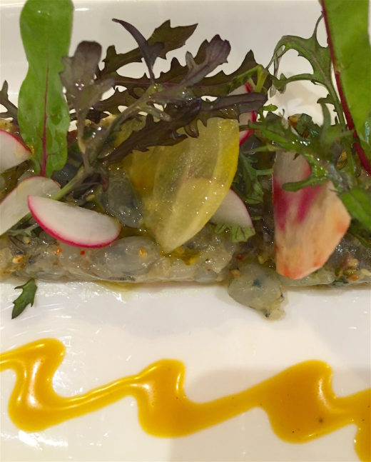 L'Assiette shrimp tartare @Alexander Lobrano