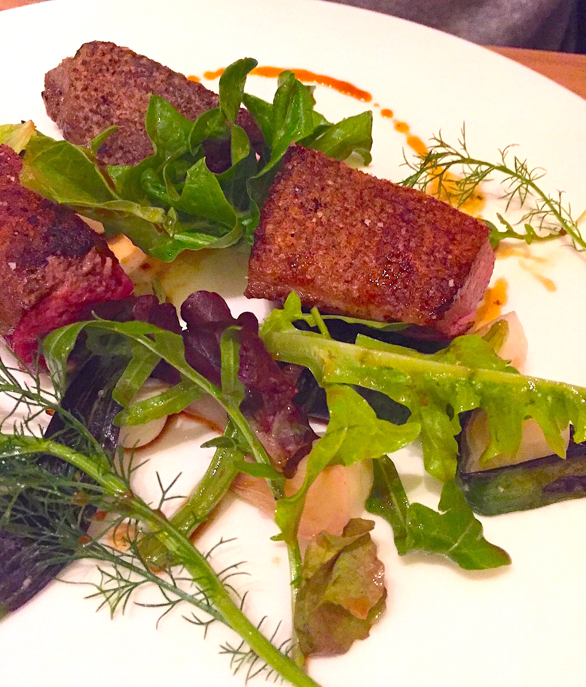Restaurant Passerini - roasted duckling with baby onions and olives @Alexander Lobrano