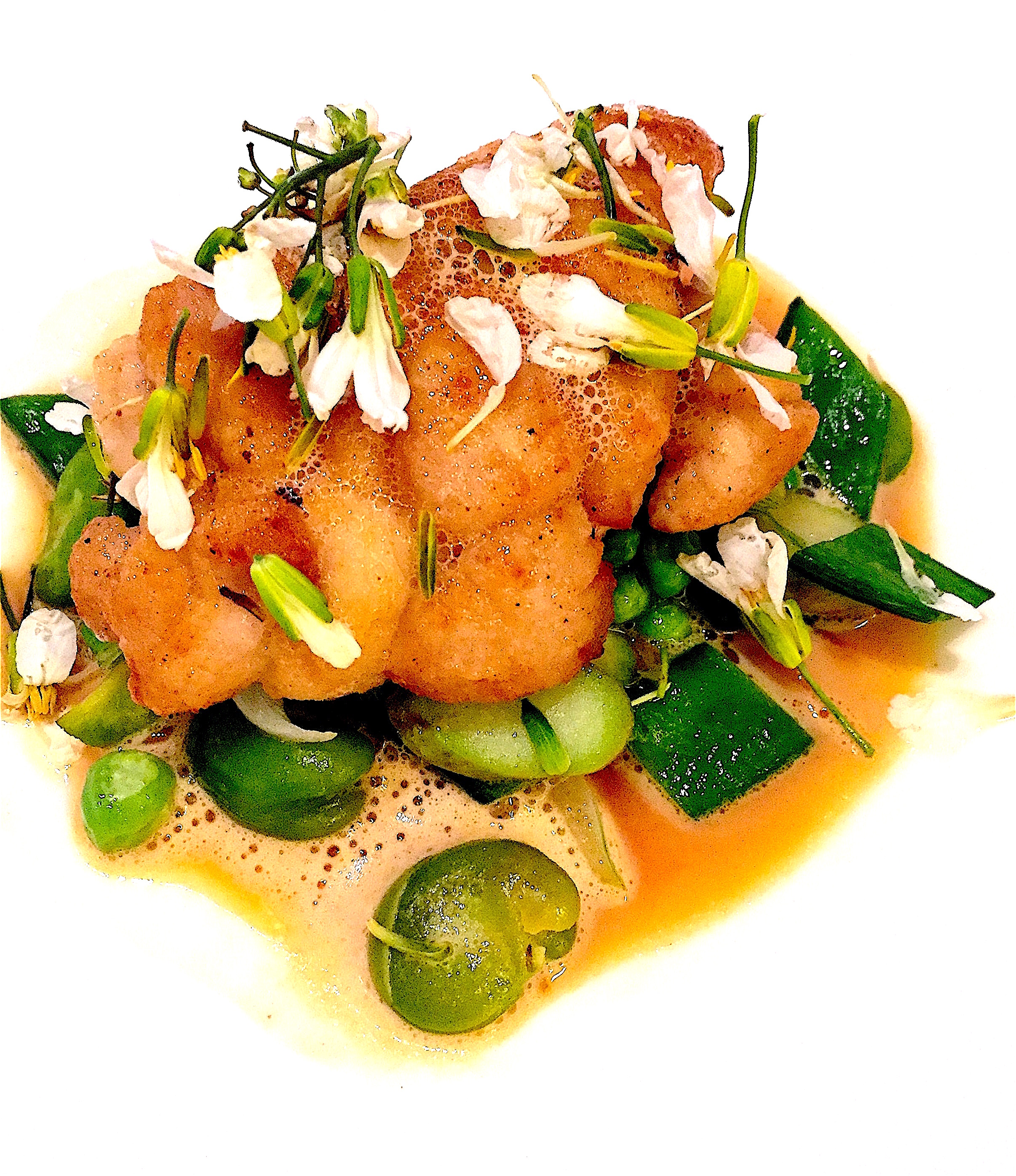 Restaurant Passerini - veal sweetbreads with spring vegetables