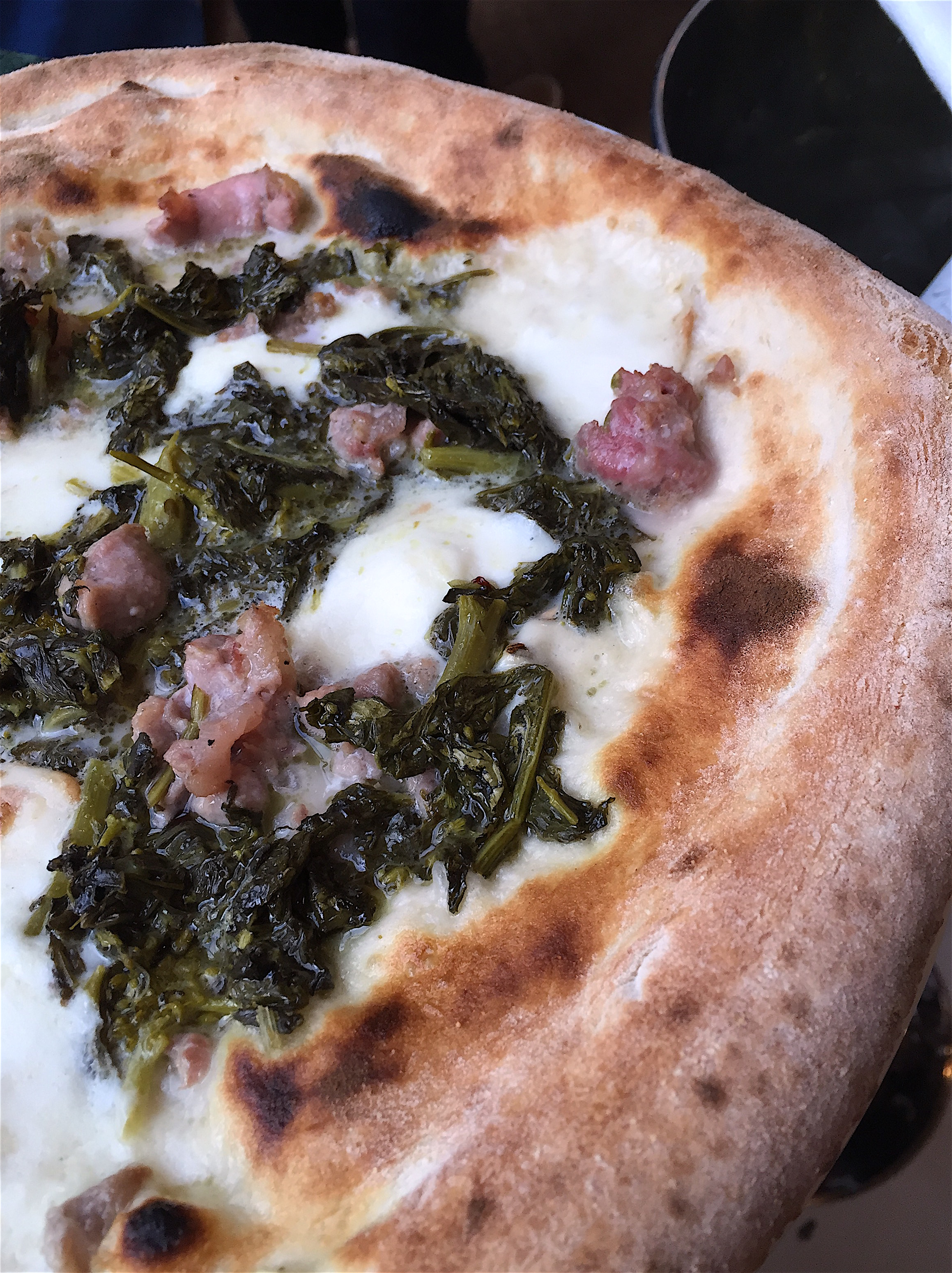 Daroco - Pizza with broccoli rabe and sausage @AlexanderLobrano