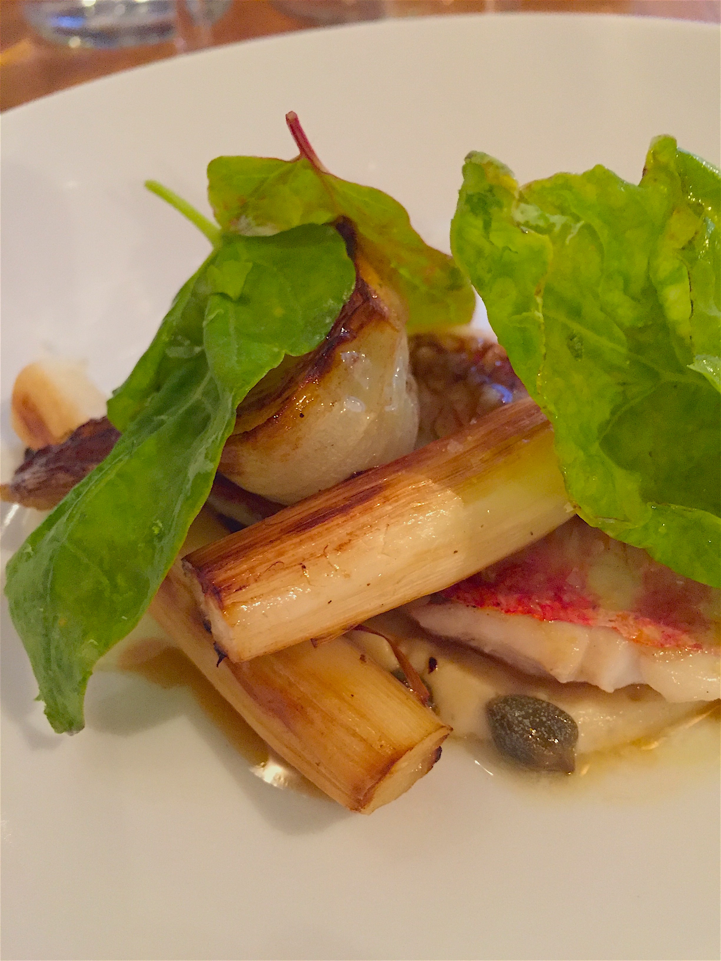 Fulgurances - red mullet and white asparagus