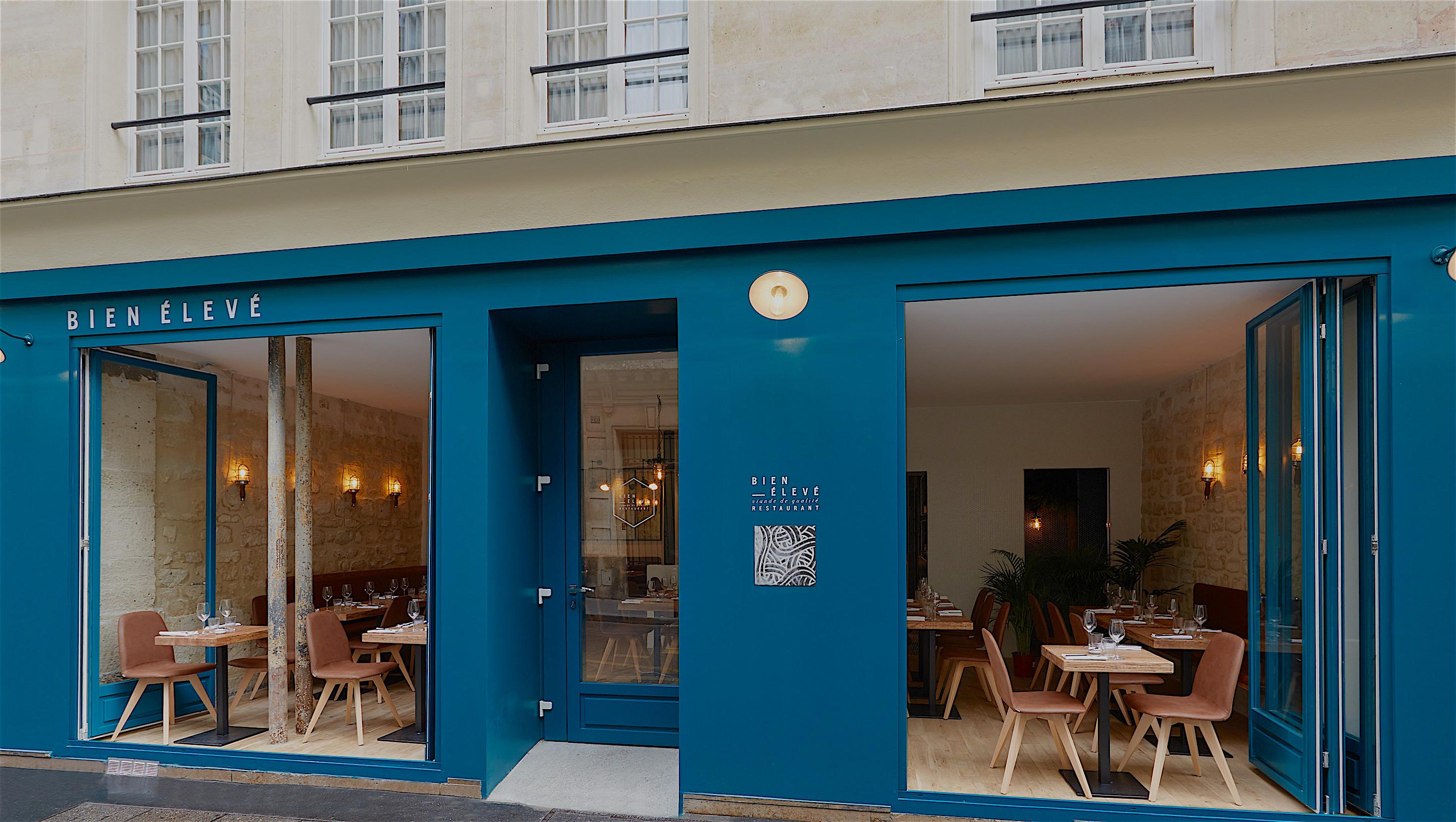 Bien eleve facade of restaurant david grimbert