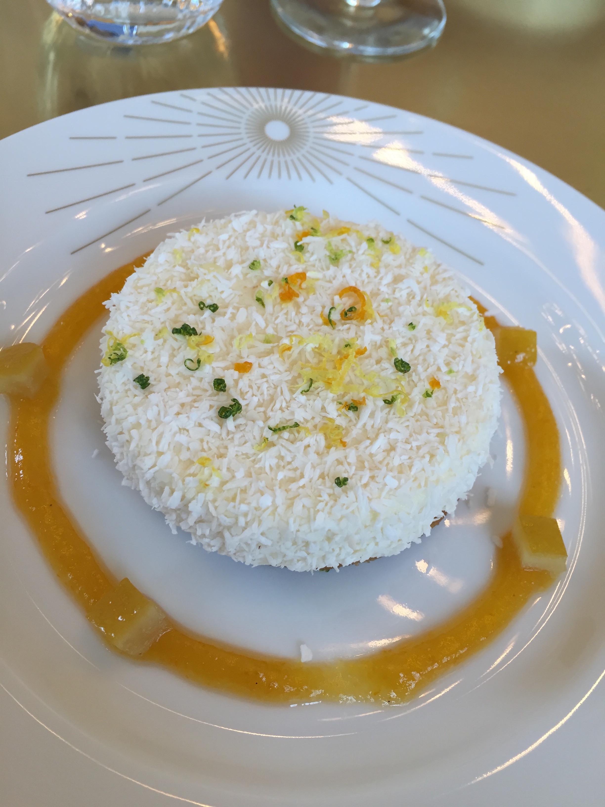 Ore restaurant, Versailles - Modern cheesecake @ Alexander Lobrano