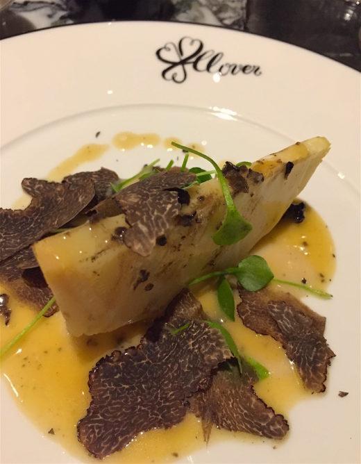 Clover Grill - Celeriac with Parmesan truffle sauce @Alexander Lobrano
