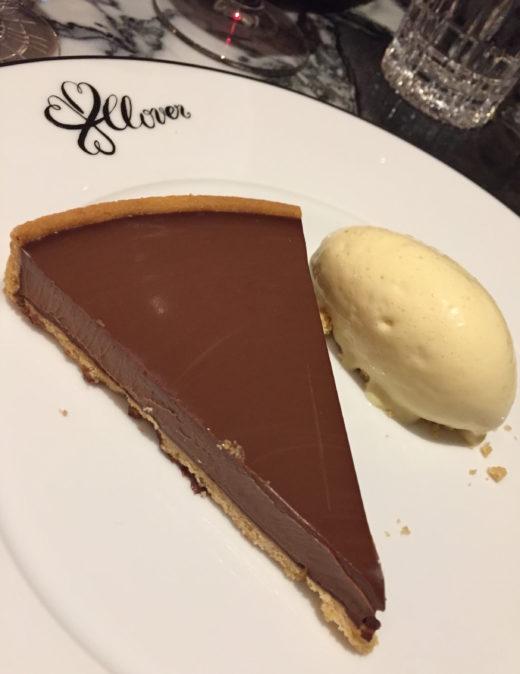 Clover Grill- Smoked chocolate tart @ Alexander Lobrano