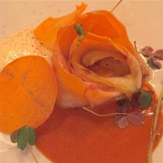 Pumpkin, endive, scamorza at Restaurant Jean @Alexander Lobrano