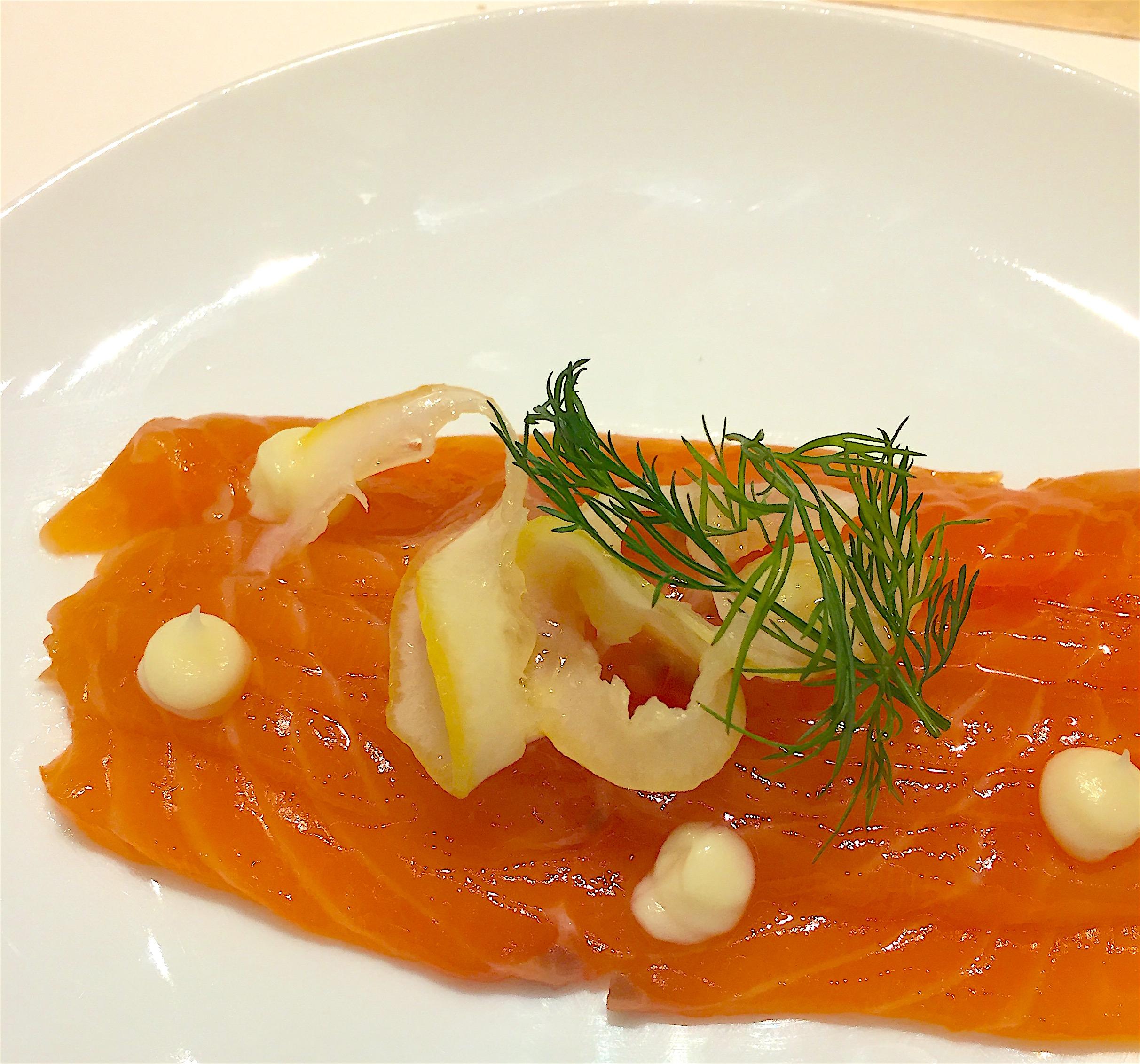 Etoile du Nord - Marinated salmon @ Alexander Lobrano