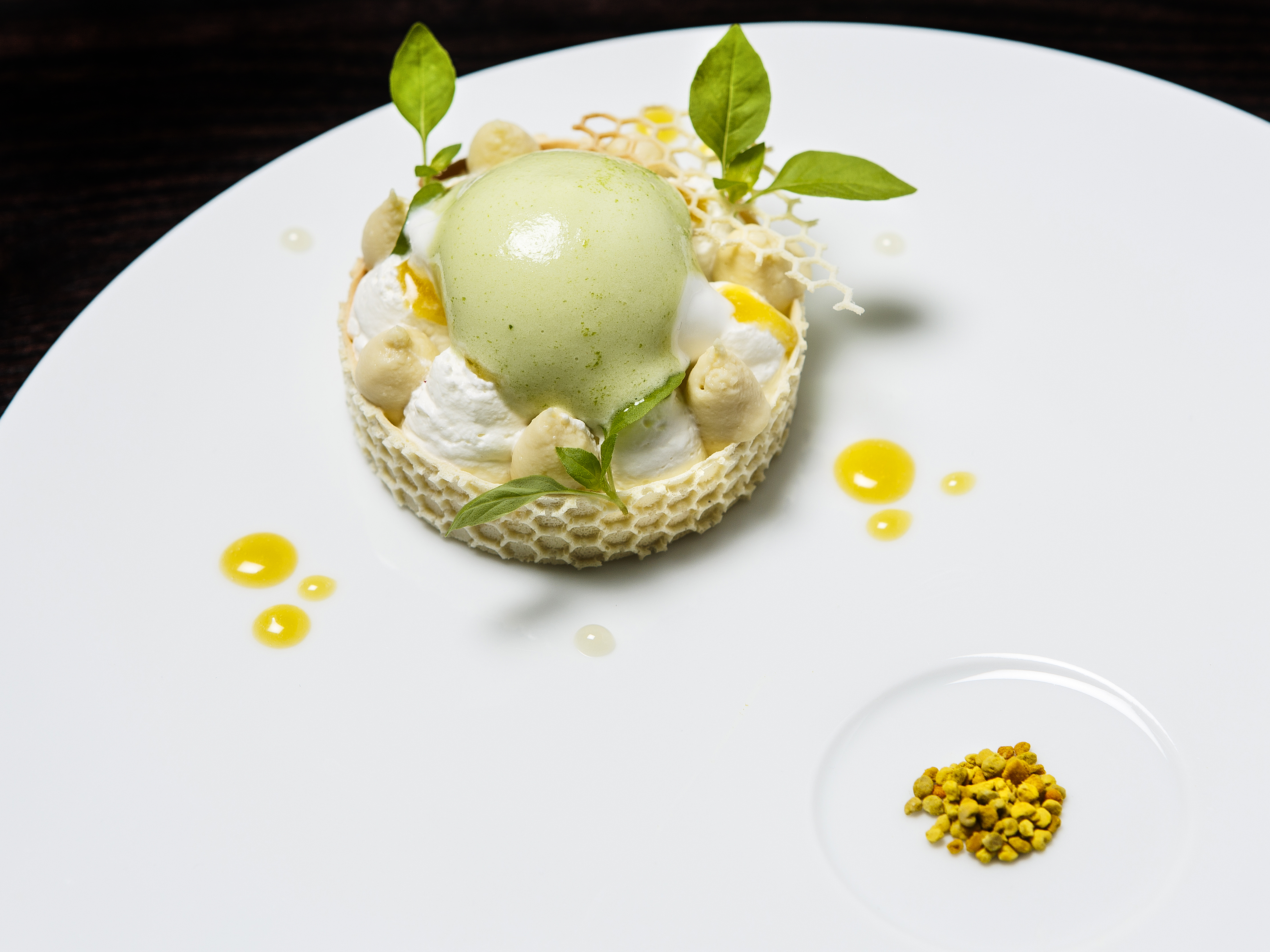 Restaurant Alan Geaam - honey milk dessert