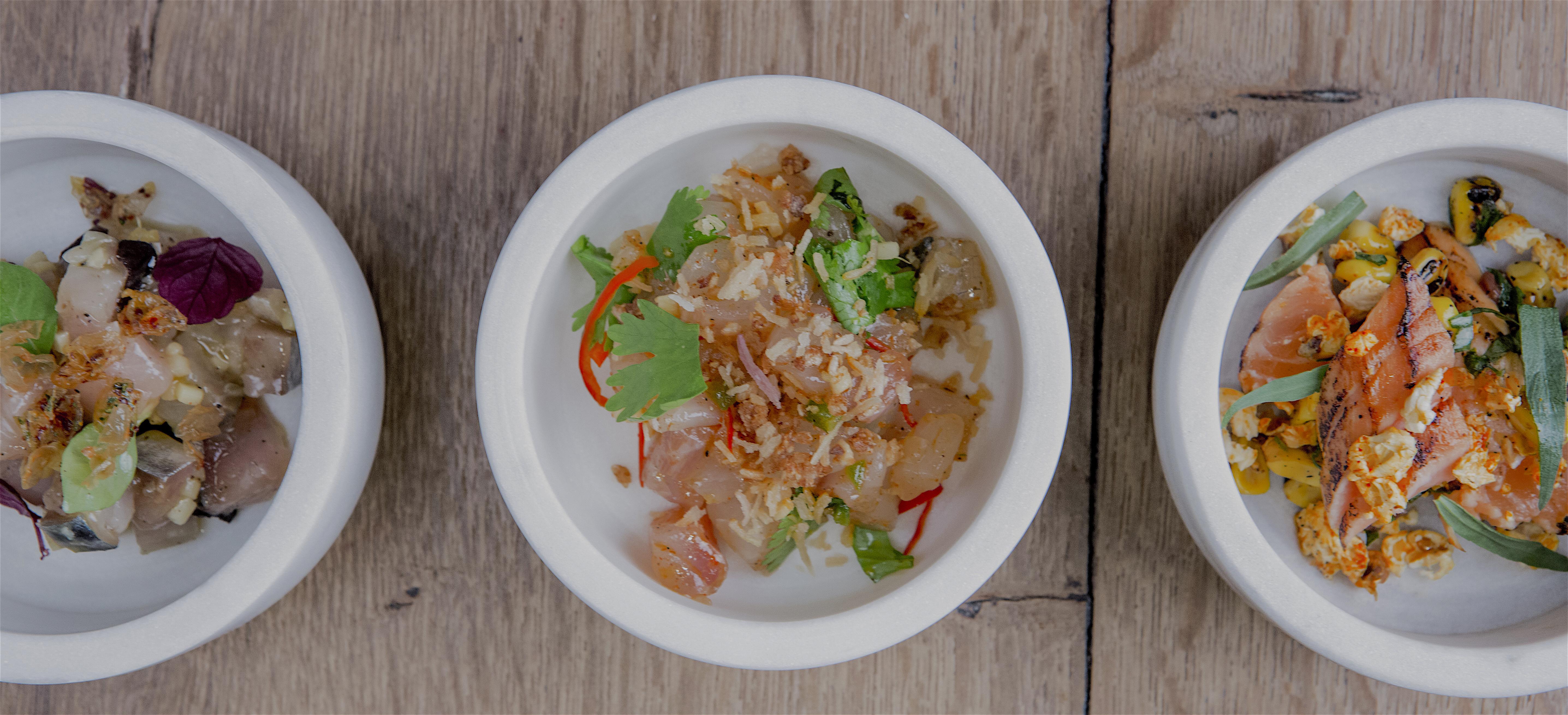 Spoon 2 @ sea bream, salmon, mackerel @pmonetta