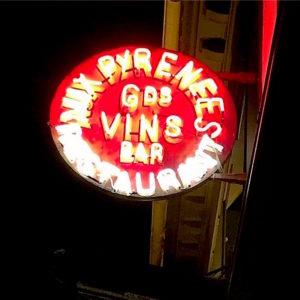 Vins des Pyrenees - neon sign@Alexander Lobrano