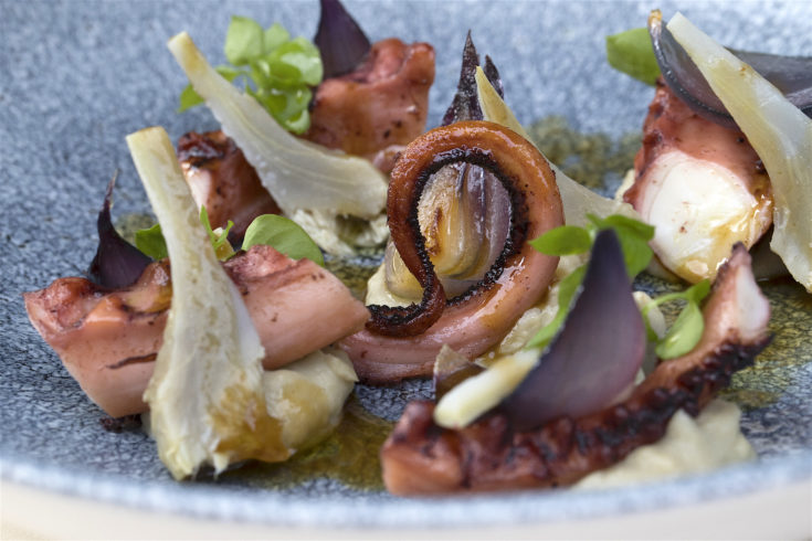 Le Flaubert - Artichoke and octopus @Lisa Klein Michel