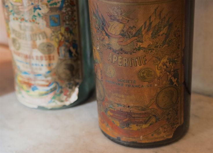 Le Flaubert - Antique bottles@Lisa Klein Michel