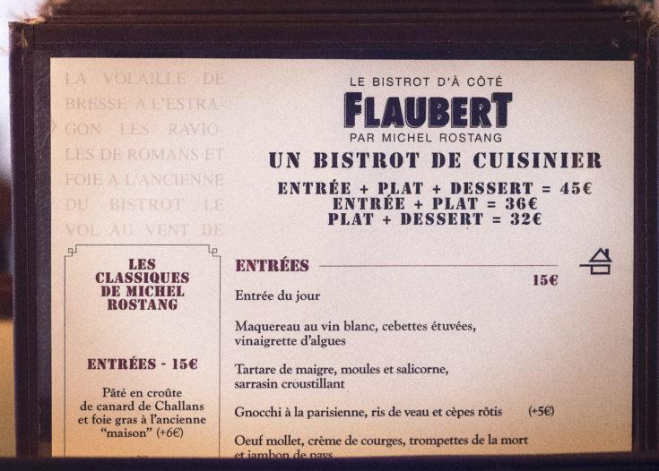 Le Flaubert - Detail of menu@Lisa Klein Michel