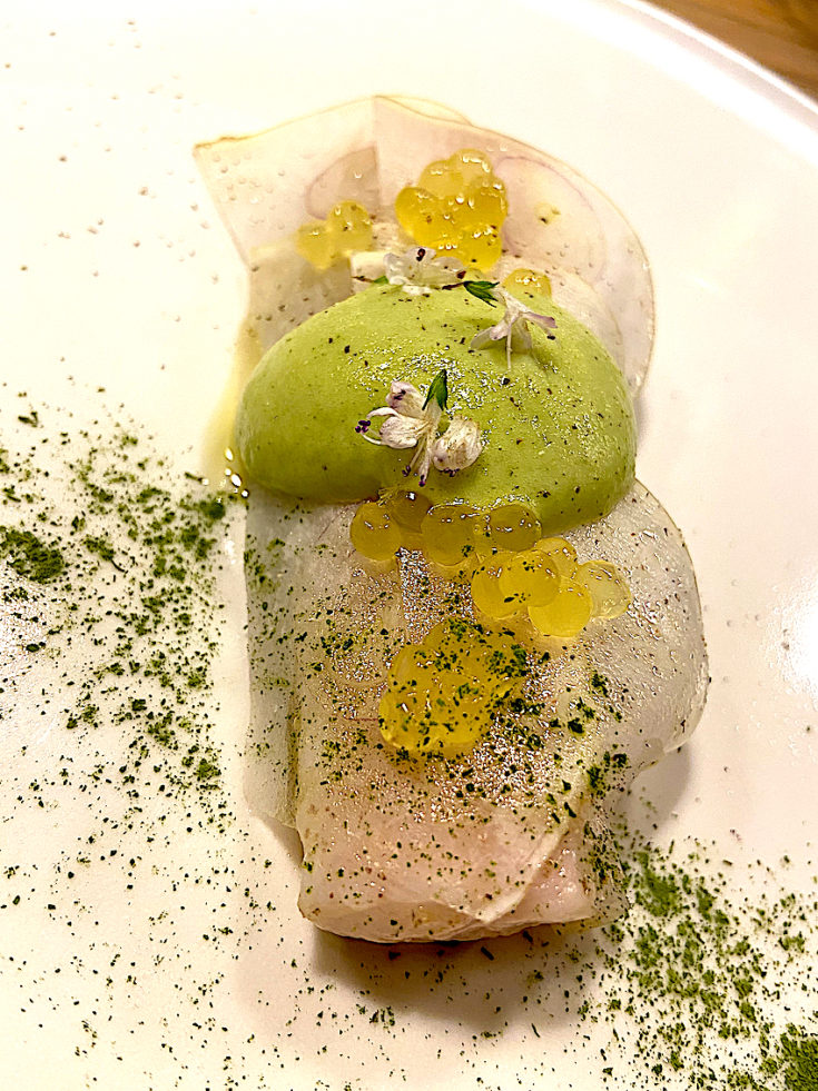 Maison Aribert - Omble chevalier, turnips @ Alexander Lobrano