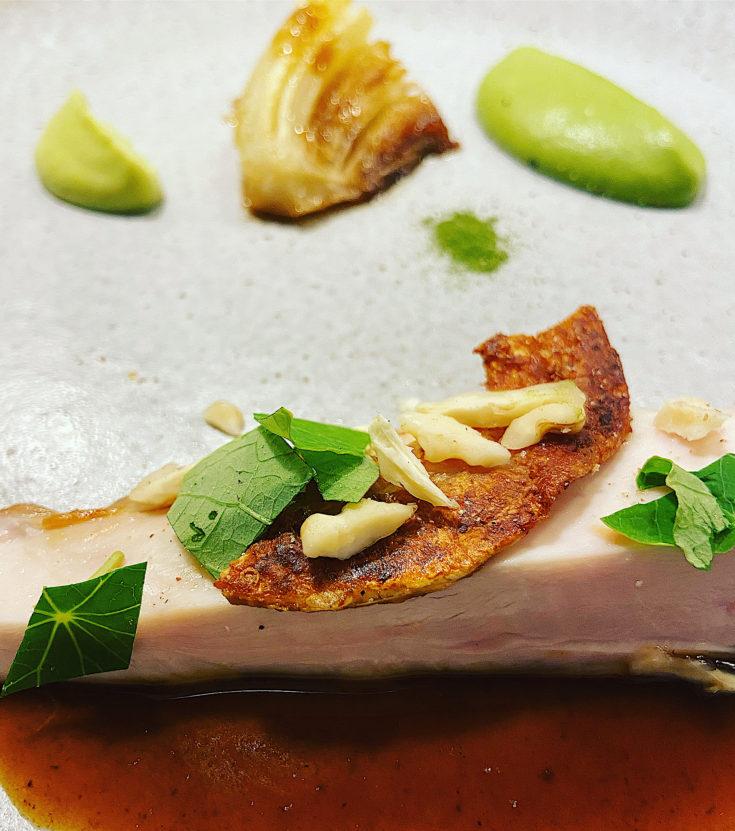 Maison Aribert - roasted chicken @Alexander Lobrano