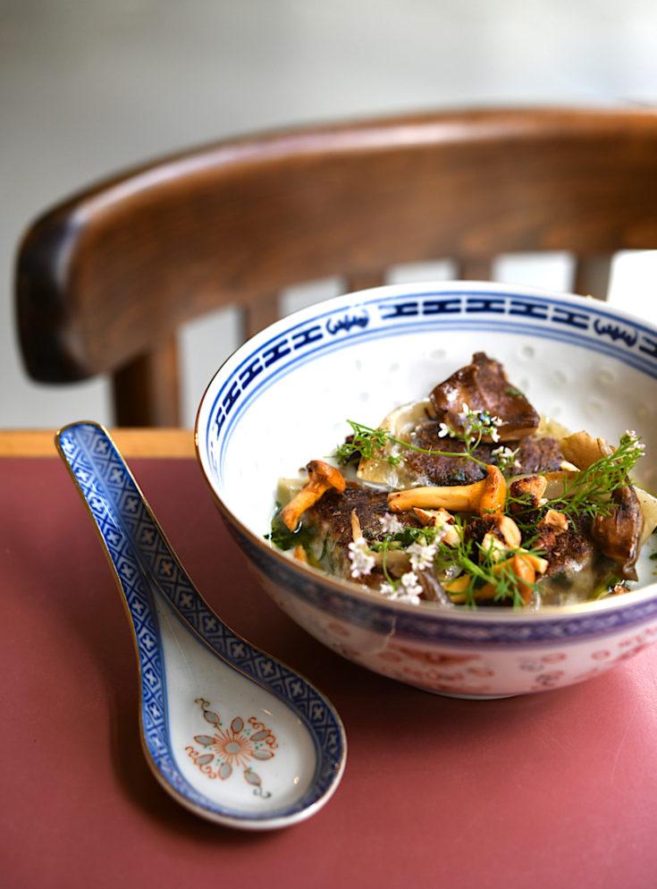 Brigade du Tigre - grilled mushroom ravioli @Geraldine Martens